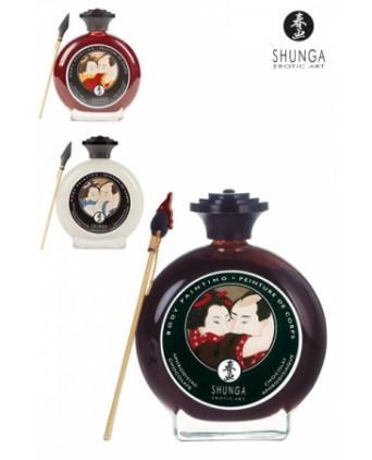 Peinture de corps comestible - Shunga - Peintures et comestibles