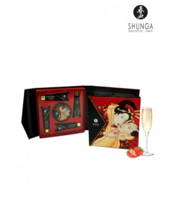 Coffret Secret de geisha vin pétillant à la fraise - Relaxation, détente