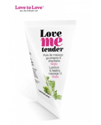 Berlingot huile massage comestible Love me Tender - Huiles et crèmes de massage