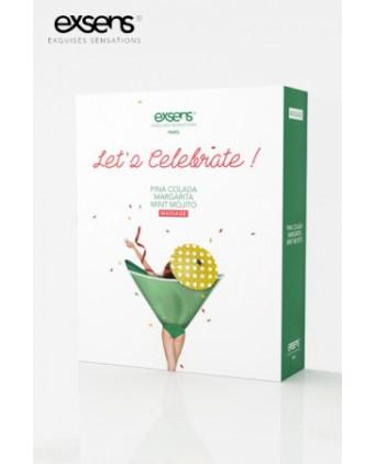 Coffret Let's Celebrate - Exsens - Massages érotiques