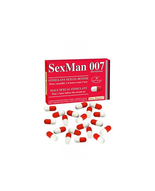 Aphrodisiaque SexMan 007 - 20 gélules - Aphrodisiaques homme