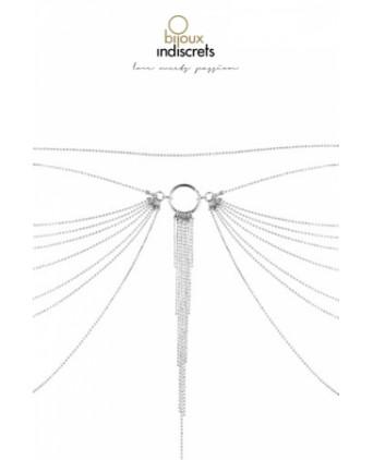 Tour de taille en chainettes métalliques argentées - Fetish et Glamour