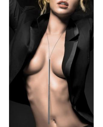 Collier Fouet en chainettes métalliques argentées - Fetish et Glamour