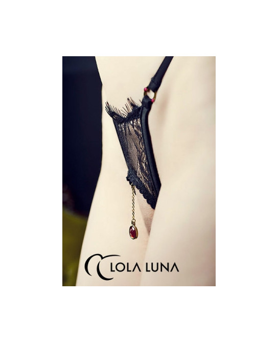 String ouvert Milena - Noir - Dessous Sexy