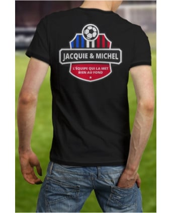 Tee-shirt Jacquie et Michel Football - noir - T-shirts Homme