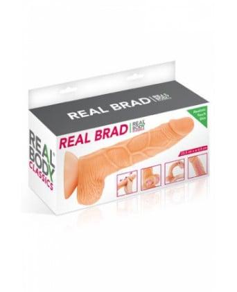 Gode ultra-réaliste 21 cm - Real Brad - Godes réalistes