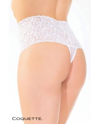 String Panty dentelle - blanc - Dessous Sexy