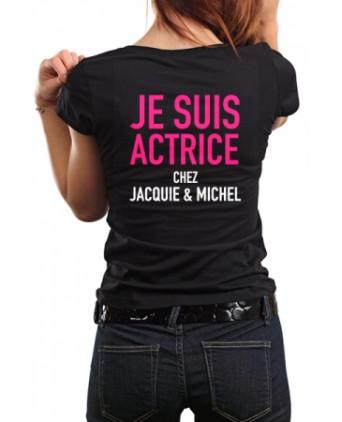 Tee-shirt Jacquie et Michel Actrice - noir - T-shirts Femme
