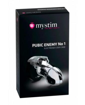 Cock Cage Pubic Enemy N°1 - Mystim - Électro-stimulation