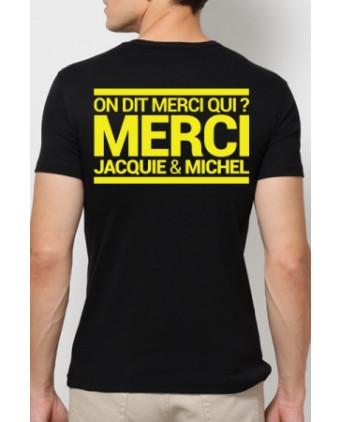 T-shirt Jacquie & Michel Jaune fluo - T-Shirts J&M