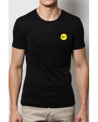 T-shirt Jacquie et Michel Jaune fluo - noir - T-shirts Homme
