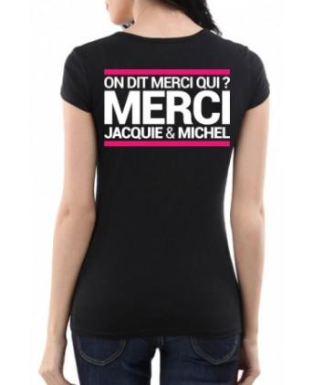 Tee-shirt Jacquie et Michel spécial femme - noir - T-shirts Femme