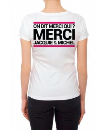 Tee-shirt Jacquie et Michel spécial femme - blanc - T-shirts Femme