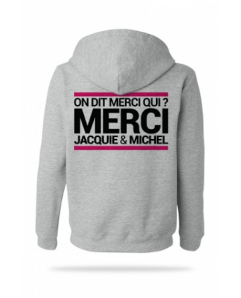 Sweat-shirt Capuche Jacquie et Michel - gris - Sweats Homme