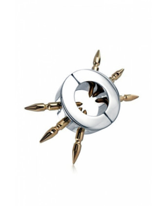 Ball Stretcher with Brass Spikes - Cock and Balls