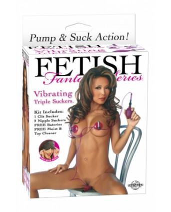 Triple suceur vibrant - Stimulateurs femme