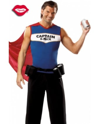 Costume Captain 6-Pack - Déguisements homme