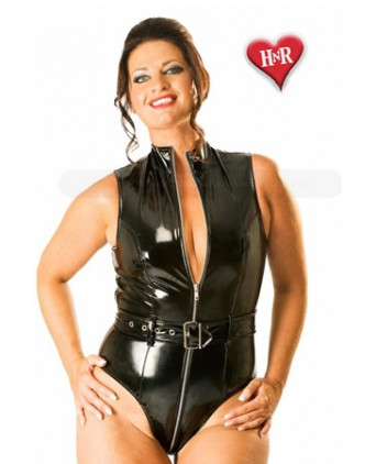 Body Bad Girl vinyle - Lingerie vinyle femme