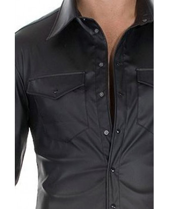 Chemise Fitted Shirt faux cuir - T-shirts