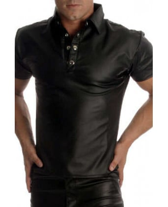 Polo faux cuir - T-shirts