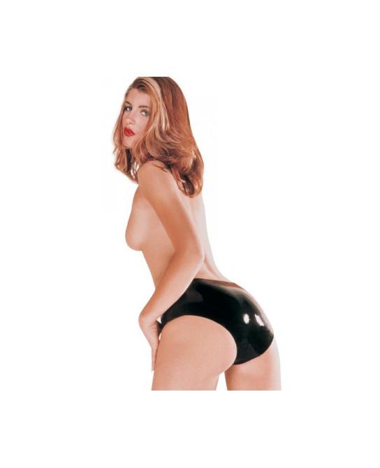 Culotte latex femme - noir - Lingerie vinyle femme