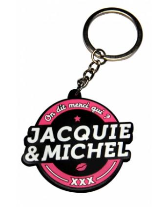 Porte-clés Jacquie et Michel logo rond - Porte-clés