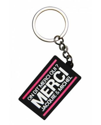 Porte-clés Jacquie et Michel logo rectangulaire - Porte-clés