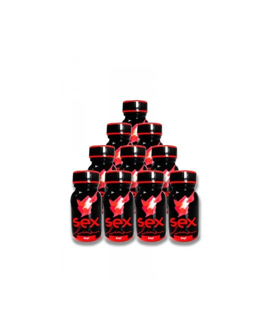 Poppers Sexline rouge (pack de 10) - Poppers