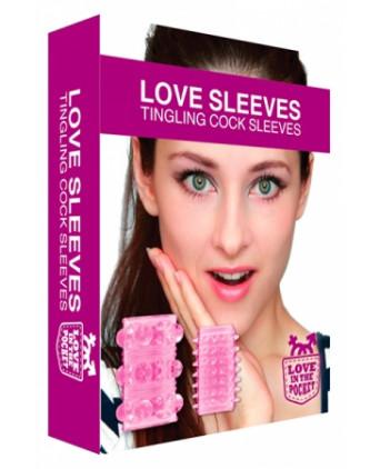 Gaines de Pénis Love Sleeves Tingling - Anneaux péniens