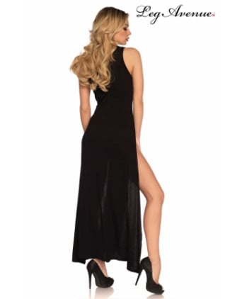 Robe longue fendue Deep-V - Robes sexy