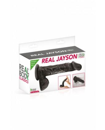 Gode réaliste 21 cm - Real Jayson Noir - Godes réalistes