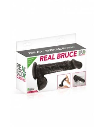 Gode réaliste 23 cm - Real Bruce Noir - Godes réalistes