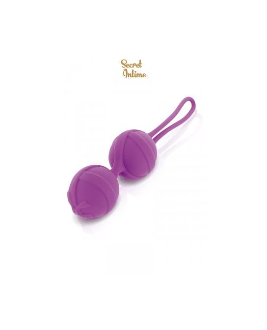 Boules de Geisha violettes Secret Intime - Sextoys