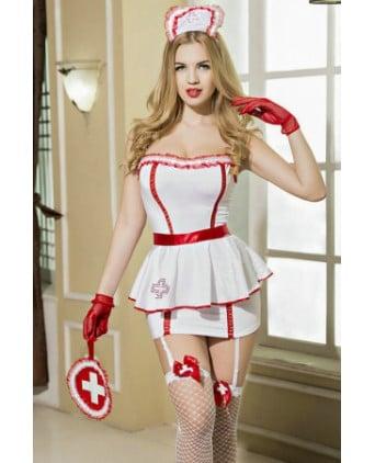 Déguisement sexy infirmière 8 pièces - Déguisements femme