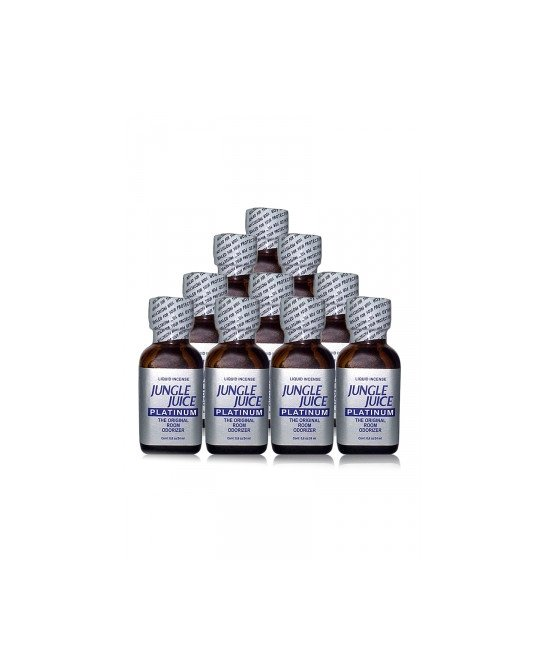 Pack 10 poppers Jungle Juice Platinum 24 ml - Poppers