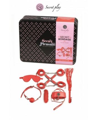 Kit BDSM 8 pièces - rouge - Accessoires SM