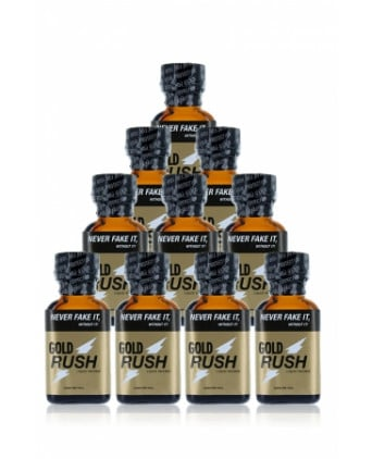 Pack 10 poppers Gold Rush 24 ml - Poppers