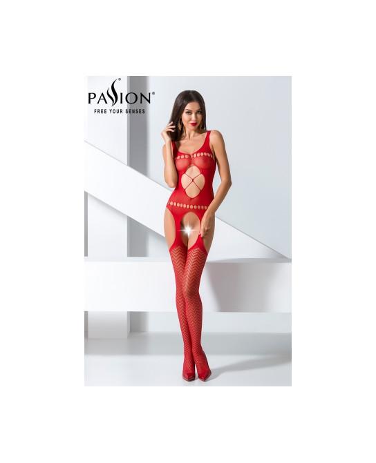 Combinaison BS057 - Rouge - Lingerie femme