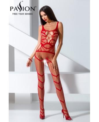 Combinaison BS058 - Rouge - Lingerie femme