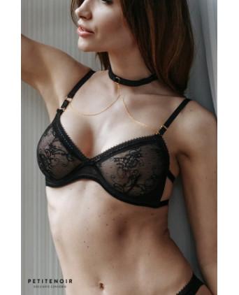 Collier pour soutien-gorge chaînes dorées - Accessoires sexy