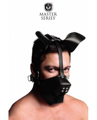 Masque de chien avec baillon boule - Baillons, gagballs