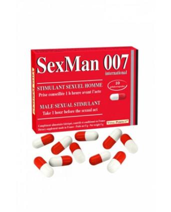 Aphrodisiaque SexMan 007 (10 gélules) - Aphrodisiaques homme