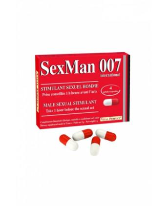 Aphrodisiaque SexMan 007 (4 gélules) - Aphrodisiaques homme