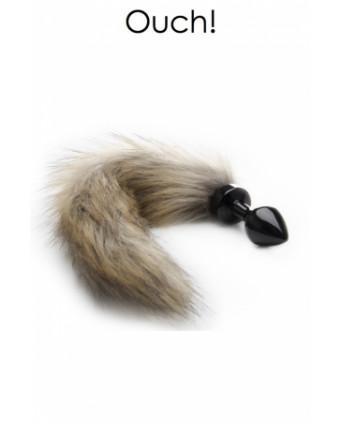 Plug anal avec queue en fourrure renard - Plugs, anus pickets