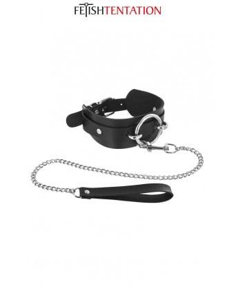 Collier avec anneau & laisse - Fetish Tentation - Attaches, contraintes