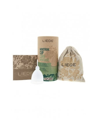 Cup menstruelle blanche grande taille - Liebe - Hygiènes, poires lav.