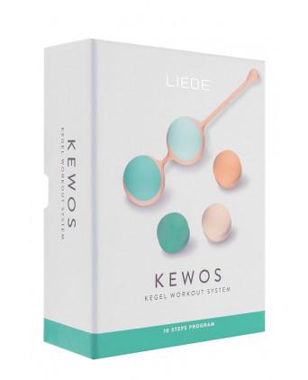 Kit d'entraînement pelvien Kewos - Pêche/Menthe - Boules de Geisha