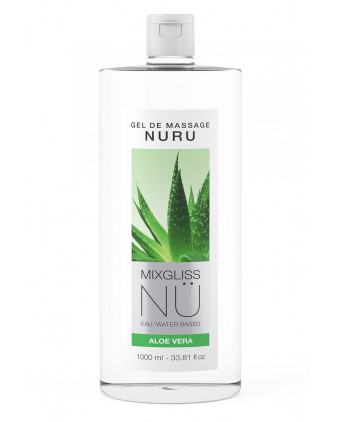 Gel massage Nuru Aloe Vera Mixgliss - 1 litre - Lubrifiants base eau