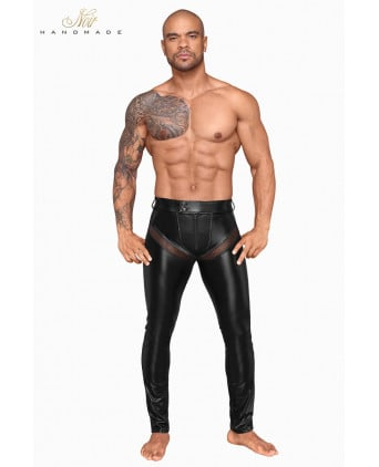 Pantalon wetlook et filet H059 - Prêt à porter