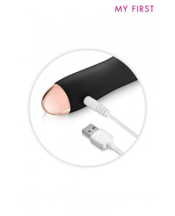 Vibromasseur rechargeable Twig noir - My First - Mini vibromasseurs